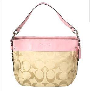 Coach Signature Pink Zoe Hobo Bag